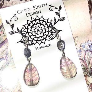 Casey Keith Design Jewelry - Rainbow Fleurite and Iolite Earrings